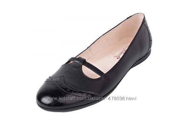 Красивые кожаные балетки Lioneli 50207. 1 для юных модниц в наличии