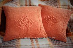 вязанные чехольчики на подушки