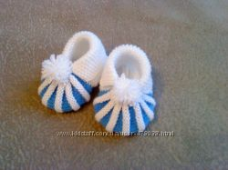 вязанные пинеточки и носочки