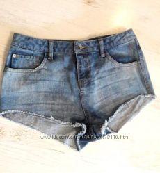 Джинсовые шорты с завышенной талией 28 размер