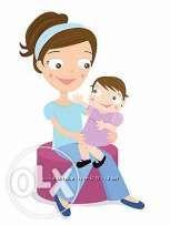 Ночь день почасовая помощь- няня для ребенка