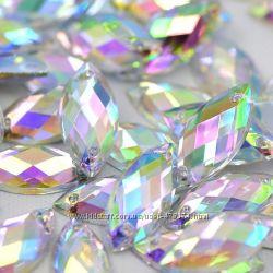 Камни маркиз гранёные голограмма высокое качество