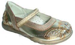 Золотистые туфельки для маленьких принцесс BUDDY DOG  Бадди дог. Распродажа