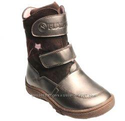 На цигейке. Зимние ботиночки Flamingo для девочки. Распродажа