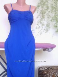 Шифоновый струящийся сарафан-платье в пол