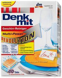 Таблетки для посудомоечных машин Denkmit Revolution 40tabs