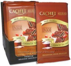 Молочный шоколад Cachet с карамелью и морской солью 300г