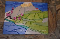 Картины из дерева обьемные, рельефные, мозаика, любая тематика на подарок