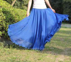 Длинные шифоновые юбки много цветов