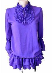 394579bb19e Туника - блуза фиолетовая шифоновая