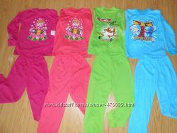 Детские костюмы пижамы для дома, садика 1-6 лет, хлопок