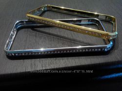 Бампер метал с камнями для IPhone 5, 5s