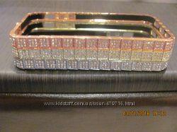 Шикарный бампер метал с камнями для IPhone 5, 5s, 6, 6s в наличии