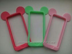 Распродажа силиконовых бамперов Микки Маус на iphone 5, 5s в наличии