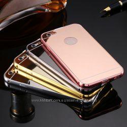 Бампер c зеркальной крышкой на Samsung Galaxy A5, J5, IPhone 6, 6s, 6, 6s Plus