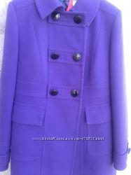 Шикарное пальто фиолетового цвета. MARKS&SPENSER.
