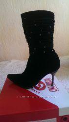 Зимние ботиночки на шпильке