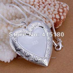 Подвесочка Сердечко серебро 925