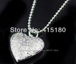 Сердечко  для фото 925 серебро