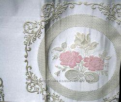 Ткань портьерная Роза Прованс  Рогожка компаньон, пошив