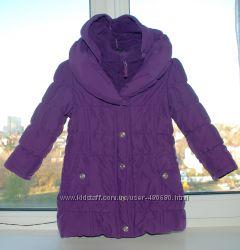 деми куртка-пальто  110 см 4-5 года фирма M&Co Отличное состояние