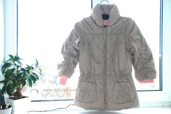 Деми -еврозима куртка-пальто 122 см 6-7 лет Mоthercare Отличное состояние
