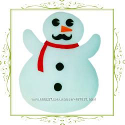 Новогодние украшения мишура, снежинки, снеговик