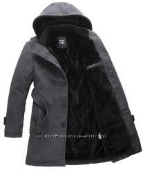 Пальто мужское зимнее серое