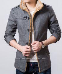 Пальто мужское серое п02