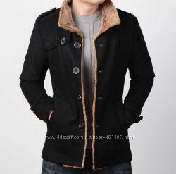 Пальто мужское черное п02