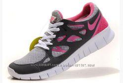 Кроссовки Nike free run 2 серо-роз