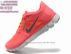 Кроссовки Nike free run 3 коралловый