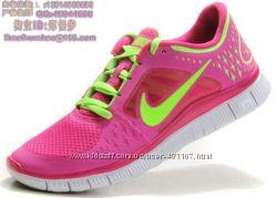 Кроссовки Nike free run 3 малиновый