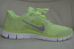 Кроссовки Nike free run 3 салатовый