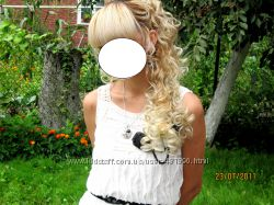 Волосы на зажиме блонд