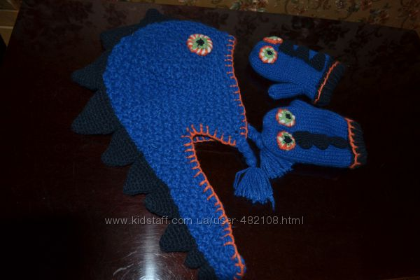 Шапочка с рукавичками Дракоша от Некст
