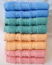 Махровые полотенца лицевые и банные