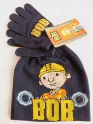 Набор шапка и перчатки для фанатов Боба-строителя 2-3 года, Германия