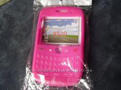 Силиконовый розовый чехол для БЛЕКБЕРРИ модель 8520