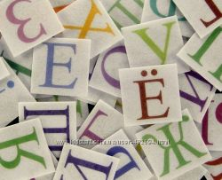 Фетр с принтом Буквы и Цифры 9 видов