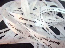 Ленты с логотипом, бирки, этикетки, печать на лентах