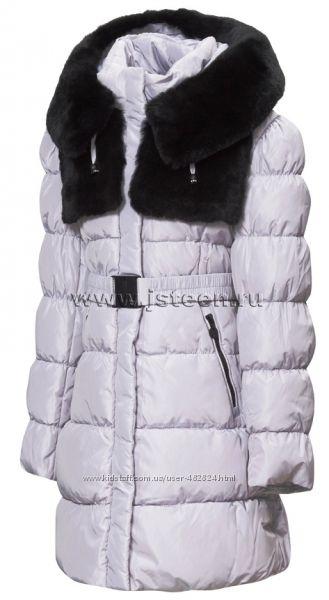 Пальто зимние для девочек от бренда Анеруно. Зима 2020