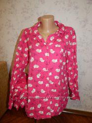 Boux Avenue пижама байковая рубашка  штанишки р16