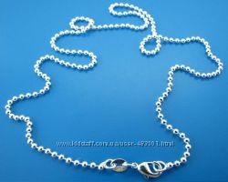 Цепочка посеребренная, 925 серебро