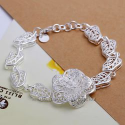 женский браслет Tiffany роза покрытие серебро 925 185 грн