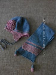 Набор шапка и шарф на 2-3 года