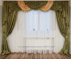 Комплект ламбрикен шторы