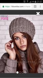 Тепла і стильна жіноча шапка з Польщі