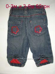 джинсики F&F и  EARLY DAYS 0-3м и 3-6мбольшемерят