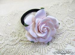 Резинка для волос, цветок роза
